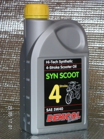 motorový olej Denicol SYN SCOOT 4T 5W40 - 1l