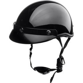 otevřená helma Braincap černá lesklá
