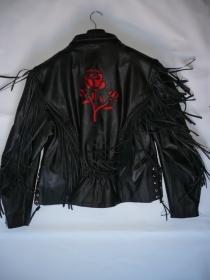 dámská moto bunda Křivák - růže