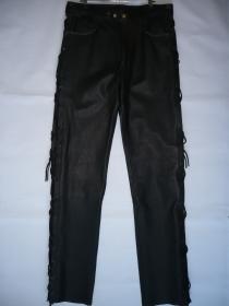 kalhoty kožené se šněrováním