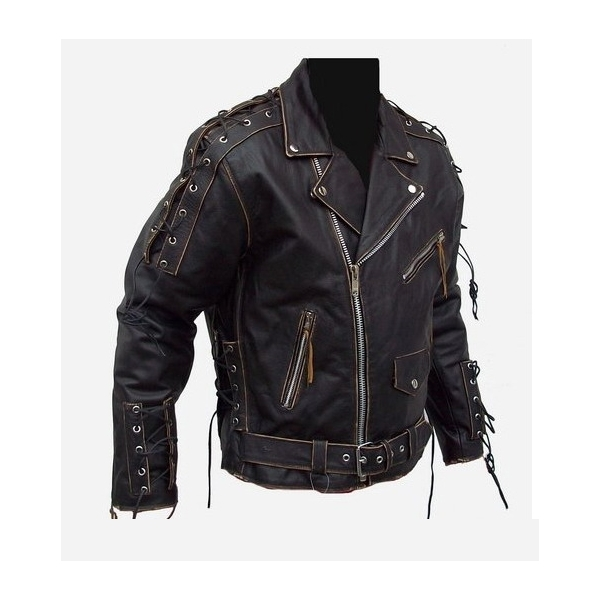 kožená moto bunda křivák Ultimate Rebel a7f6679c914