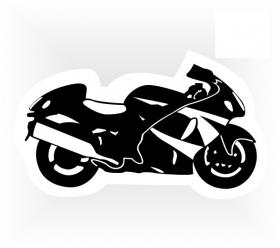 samolepka motorka - silniční