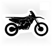 samolepka motorka - cross