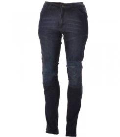 moto kalhoty dámské kevlarové džíny Roleff Aramid modré