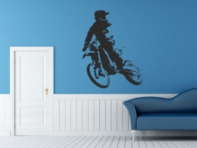 samolepka na zeď motokros