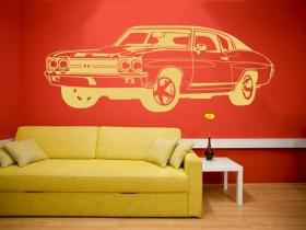 samolepka na zeď americký auto