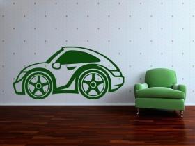 samolepka na zeď autíčko