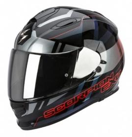 integrální přilba Scorpion EXO 510 Air Stage černo/stříbrno/červená