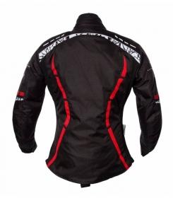 dámská moto bunda Roleff Zelina černá/červená