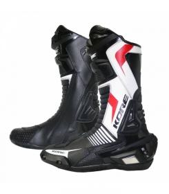dámské boty na moto Kore Sport černé/bílé/červené