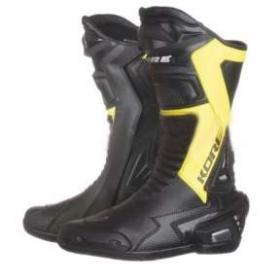 boty na motorku Kore Sport černé/žluté fluo
