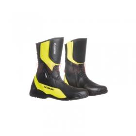 dámské boty na moto Kore Sport Touring černé/žluté fluo