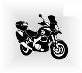 samolepka motorka - enduro