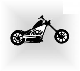 samolepka motorka - chopper