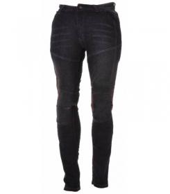 moto kalhoty dámské kevlarové džíny Roleff Aramid černé