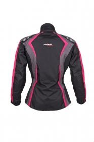 dámská moto bunda Roleff Estretta černá/růžová/šedá