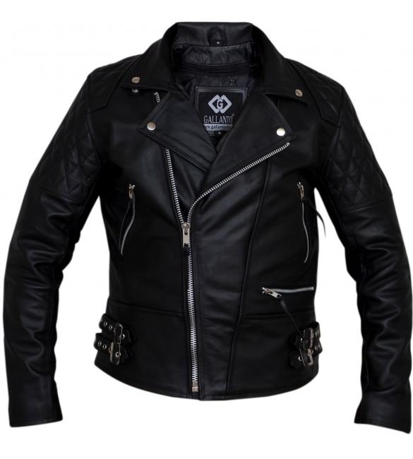 kožená moto bunda křivák Diamond černý 60fad337dfd