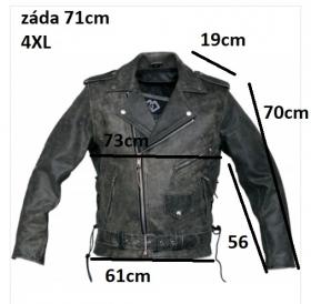 kožená moto bunda křivák Vintage