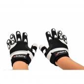 dětské rukavice na motokros Heipe bílé