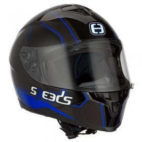 integrální přilba Speeds Race II modrá lesklá