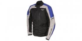 textilní moto bunda Ayrton Tonny černá/šedá/modrá