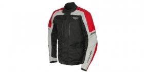 textilní moto bunda Ayrton Tonny černá/šedá/červená