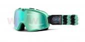 retro brýle na motorku 100% Barstow Classic Ornamental Conifer - zelené chrom plexi