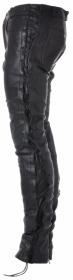 kožené šněrovací moto kalhoty Roleff