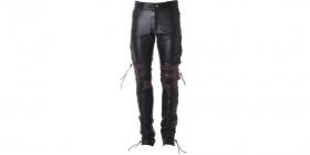 dámské kožené šněrovací moto kalhoty Roleff