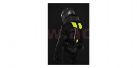 airbagová vesta Spidi Full DPS CE celotělová černá/žlutá fluo