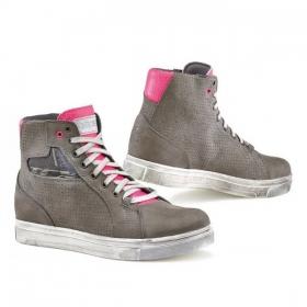 dámské boty na moto TCX Street ACE Lady WP Air cold grey/fuchsia