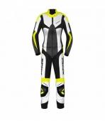 dámská dvoudílná moto kombinéza Spidi Poison černá/bílá/žlutá