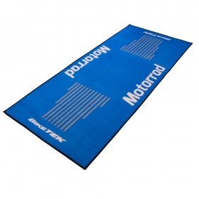 koberec pod motorku modrý