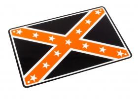 parkovací cedule konfederační vlajka