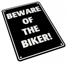 parkovací cedule Biker