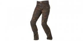 moto kalhoty Ayrton Camino hnědé camo/seprané dámské - kevlarové