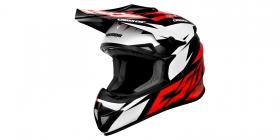 motokrosová přilba Cassida Cross Cup Two červená/bílá/černá