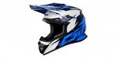 motokrosová přilba Cassida Cross Cup Two modrá/tmavě modrá/bílá