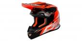 motokrosová přilba Cassida Cross Cup Two oranžová fluo/bílá/černá/šedá