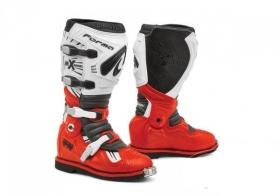 boty na motokros Forma Terrain TX s kloubem červeno/bílé