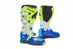 boty na motokros Forma Terrain TX s kloubem žluto/bílo/modré