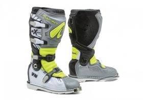 boty na motokros Forma Terrain TX s kloubem šedo/bílo/neonově žluté