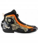 boty na motorku XPD X-Zero R černé/camo/oranžové