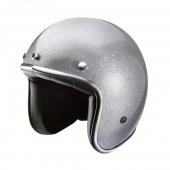 otevřená helma Nox N242 šedá metalická