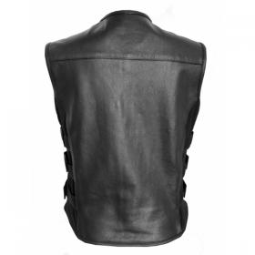 kožená vesta na moto se suchými zipy