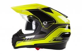 enduro přilba Maxx SC09 žlutá fluo/černá/šedá