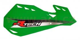 kryty rukou - páček Rtech Dual Evo zelené - odstín Kawasaki KXF