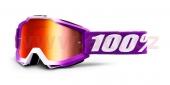 dětské brýle na motokros 100% Accuri Framboise (červené zrcadlové plexi)