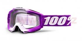 dětské brýle na motokros 100% Accuri Framboise (čiré plexi)