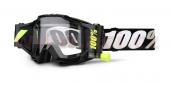 dětské brýle na motokros 100% Accuri Forecast black (čiré plexi)